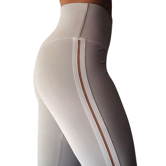 Oeak Damen Sport Leggings Hohe Taille Strumpfhose Hinten