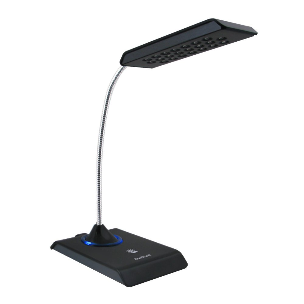Amazon daffodil lec200 usb keyboard light desk lamp with amazon daffodil lec200 usb keyboard light desk lamp with 22 led bulbs dimmable reading table light black home improvement geotapseo Image collections