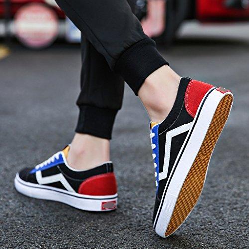 di Red uomo Scarpe Color scarpe Estate coreano da stile Scarpe basse uomo giovanile nuovo da moda da stile YaNanHome tela 42 Bianca Size Espadrillas Scarpe di 1aUOnqIBIx