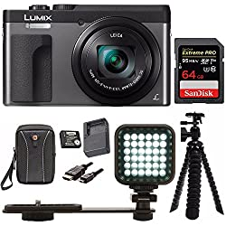 "Panasonic Dc-zs70k Lumix 20.3mp, 4k Touch 3"" Lcd, 180 Degree Display, Panasonic Batterycharger Pack Bundle"