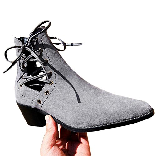 Autumn GRAY 34 Women's Genuine Fashion NSXZ Short Leather Winter Boots Rome awqn4SE