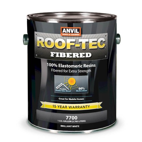 Anvil ROOF-TEC Fibered White Elastomeric Roof Coating - 1 Gallon