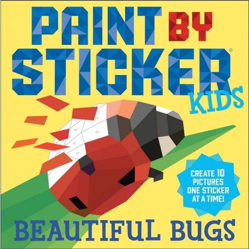 Workman Publishing Paint By Sticker Kids: Beautiful Bugs & Zoo Animals Book Set
