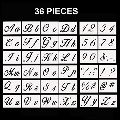 Letter Stencils, 36 Pcs Alphabet Letter Templates