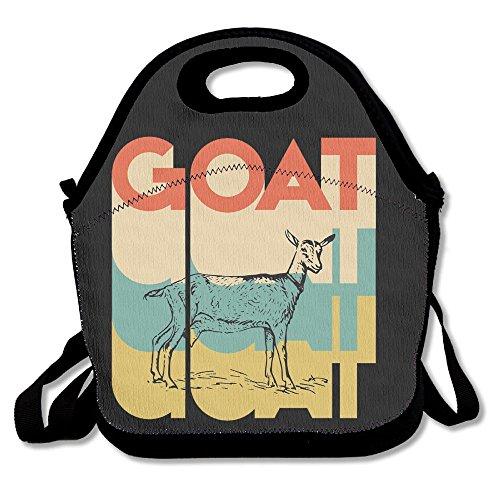 JingleBoo Vintage Retro Goat Lunch Tote Bag For Men Women Ki