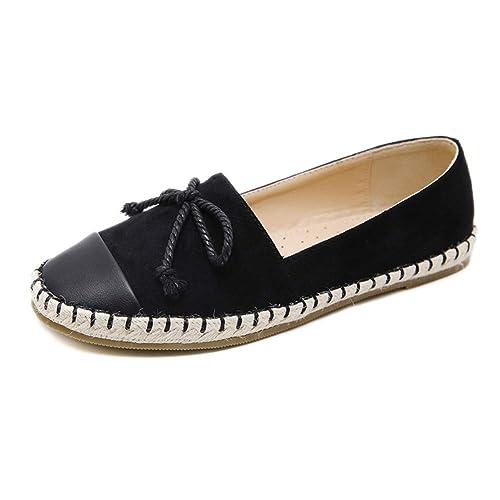 Mujeres Ante Cuero Moda Mocasines Ponerse Casual Pisos Zapatos: Amazon.es: Zapatos y complementos