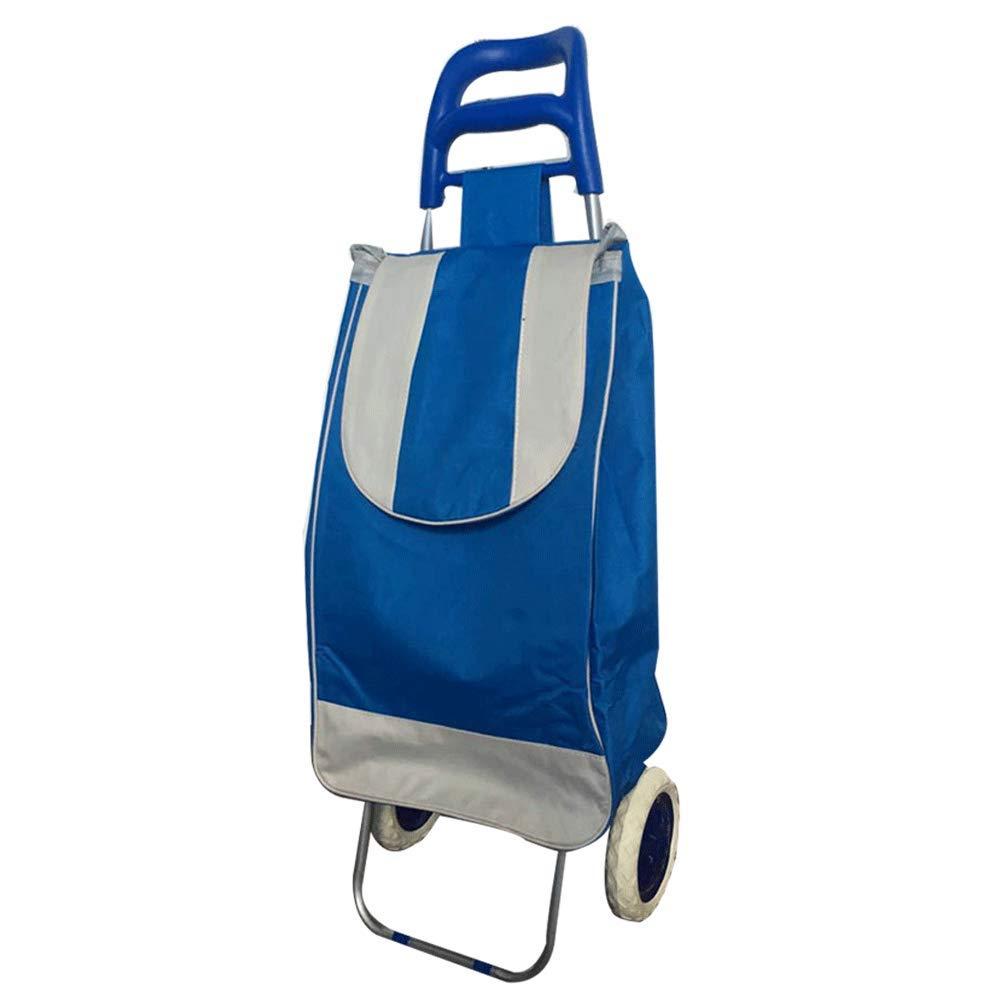 Bleu  YONGYONG Chariot Pliant Multi-Fonctions, Personnes Âgées Achetant des Légumes, Escaliers, Chariots, Petits Chariots (Couleur   rouge)