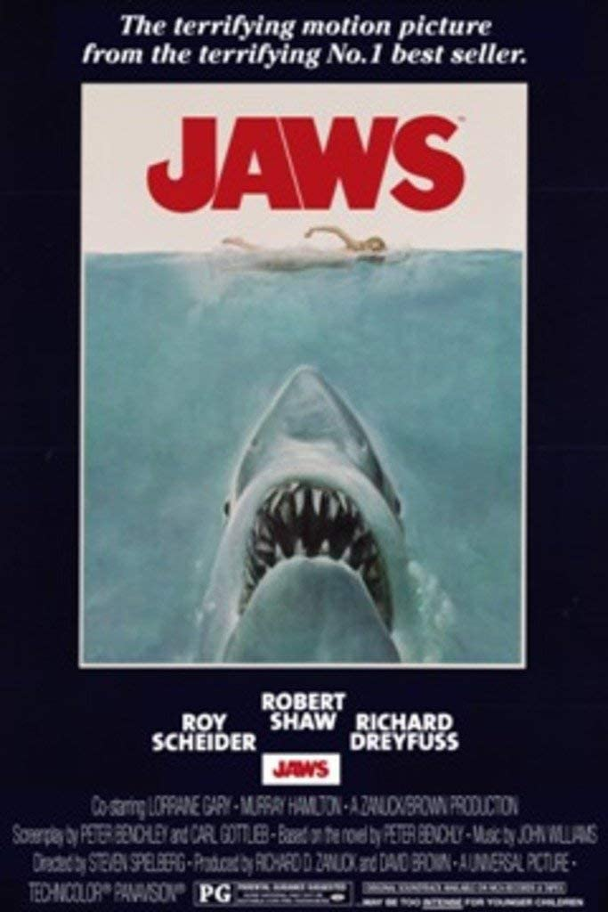 Jaws (1975) Movie Poster Poster Frameless Gift 12 x 18 inch(30cm x 46cm)-LT-089