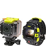 Coleman Conquest2 CX16WP+LCD 1080p 60fps Full HD 16.0 MP Wi-Fi Helmet and Action Camcorder with Streaming LCD Watch and Mount (Black)