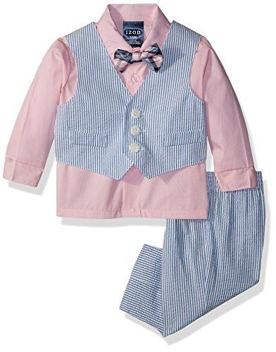 - Izod Baby boys 4-Piece Vest Set with Dress Shirt, Bow Tie, Pants, and Vest, Fairytale, 0/3 Months