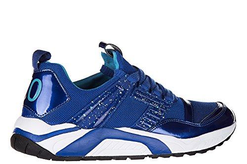 Emporio Armani EA7 Scarpe Sneakers Uomo Nuove Originale 7.0 Trainer Blu