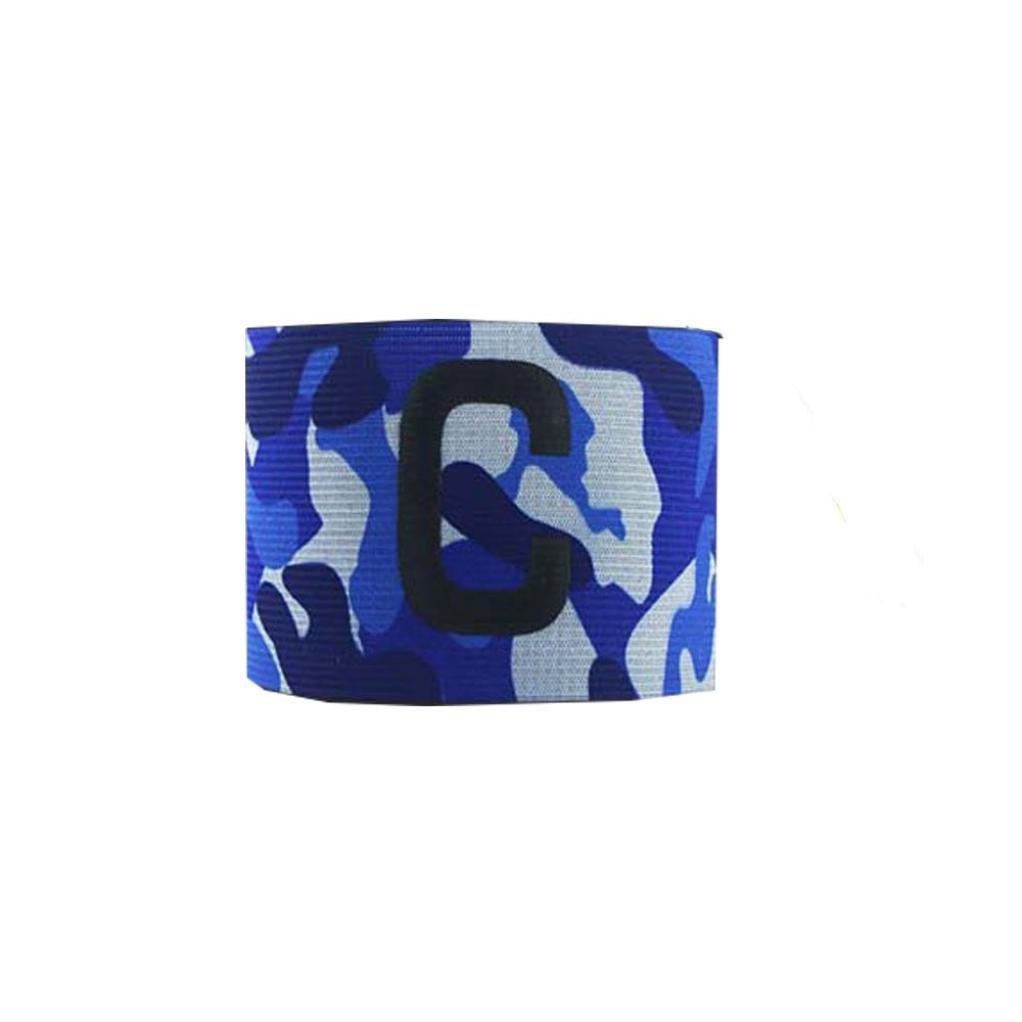 Freshzone Nylon Football Soccer Adjustable Elastic Elbow Captain Armband (Blue)