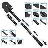 Military Survival Folding Shovel camping shovel Military shovel Entrenching Tool High Carbon Steel Handle, Nylon Carry Case