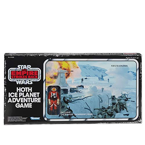 Hasbro Games Star Wars The Empire Strikes Back Hoth Ice Planet Adventure Board Game; Based on The 1980 Board Game; Exclusive Luke Skywalker (Snowspeeder) Figure