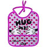 Babador decorado 1 Unidad Hug Me Solapa, Babygo/ Disney, Rosa