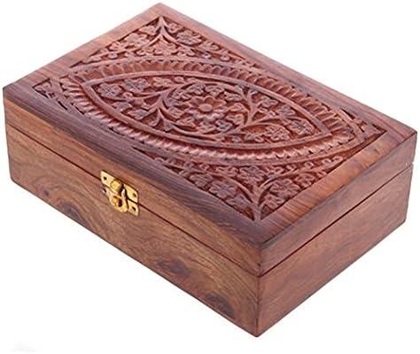 9e8aeb7f549b Sheesham Wood Essential Oil Box - Design 1 (Holds 24 Bottles ...