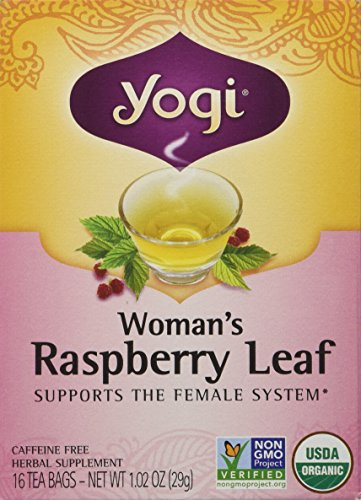 Yogi Raspberry Tea (Yogi Teas Tea Woman Rspbry Leaf Org 16 Tea Bags (Packaging May Vary))