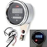 digital motorcycle tachometer - 2 In 1 Motorcycle LED Digital Speedometer Tachometer Oil Fuel Gauge