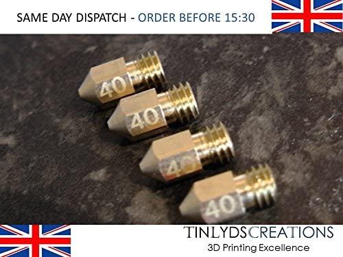 0.4 mm 3d impresora boquilla M6 hilo - MK8 extrusora ...