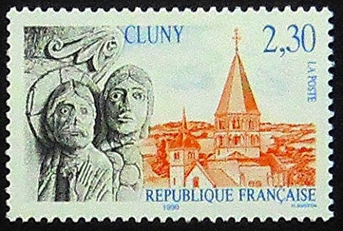 Cluny Accent (Cluny France -Handmade Framed Postage Stamp Art 1491AM)