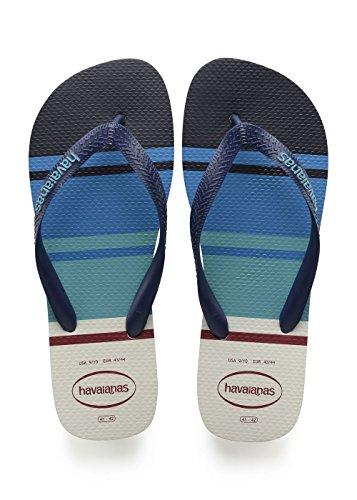 Havaianas Menns Topp Nautiske Flip Flops, Blåhvit