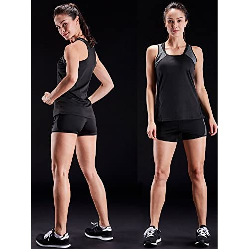 5e1506a7 Neleus Women's 3 Pack Dry Fit Workout Compression Long Tank Top ...