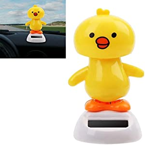 LIFEIYAN Solar Car Ornaments,Chick Dancing Swinging Dashboard Interior Decoration Solar Powered with Adhesive Tape Auto Accessories car Accessories for Women