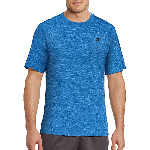 Champion Men's Vapor T-Shirt, Hotline Blue Heather, (Champion Line)