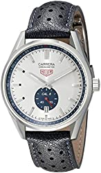 Tag Heuer Carrera Men's Black Leather Strap Automatic Swiss Watch WV5111.FC6350