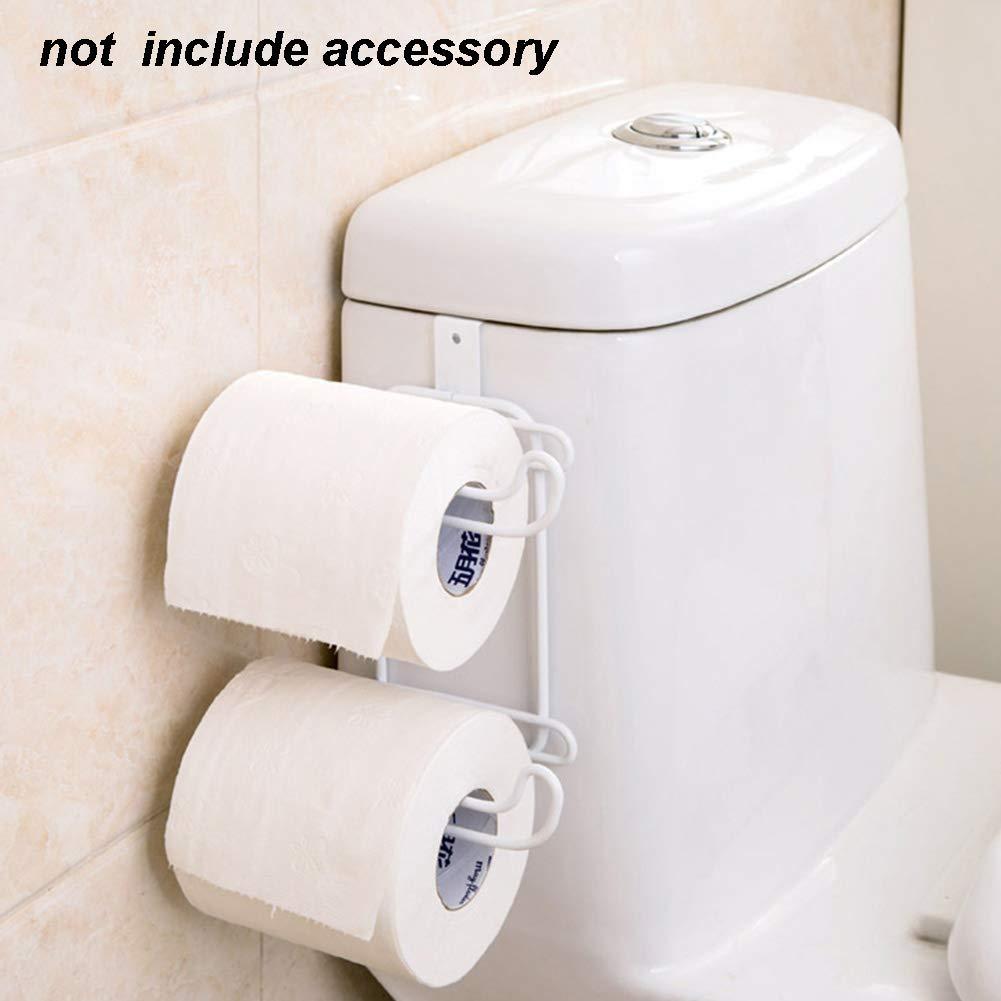UxradG - Portarrollos Doble para Papel higiénico para baño, Almacenamiento, Sobre el depósito: Amazon.es: Hogar