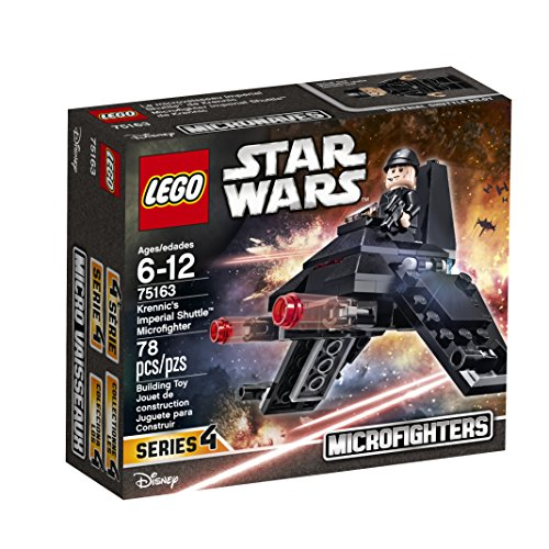 LEGO Star Wars Krennic's Imperial Shuttle Micro Fighter 75163 Building Kit (78 Pieces) (Legos Star Wars Imperial Shuttle)