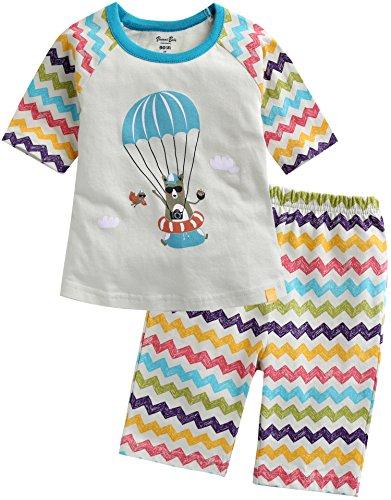 Vaenait Baby Boys 3/4 Sleeve Raglan Top and Shorts 2pcs Set Fly Bear M