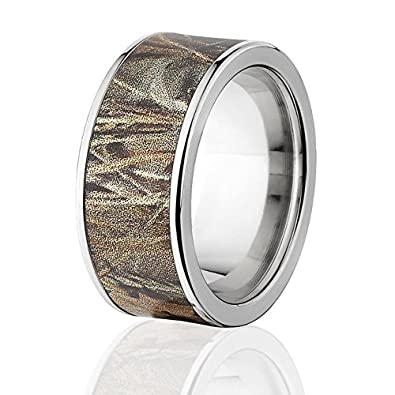 RealTree Max 4 Titanium Ring Camo Rings Camouflage Wedding Bands 8