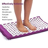 DEFUNX Acupressure Mat and Pillow Set - Relieves