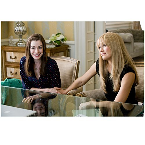Bride Wars Anne Hathaway as Emma and Kate Hudson as Liv sitting at glass desk 8 x 10 Inch Photo