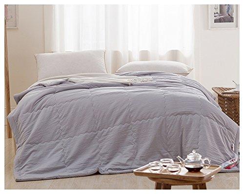 gris 150200cm HJHY Quilt, Cool été Thin Section Peut être lavé Coton Manuel Air Conditionné Individuel Double étudiant 150  200 cm Santé environneHommestale (Couleur   gris, taille   150  200cm)