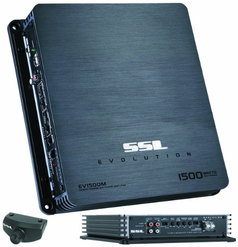 Sound Storm Laboratories EV1500M 1,500-Watt Monoblock Amplifier with High/Low Crossover Remote Subwoofer Level Control