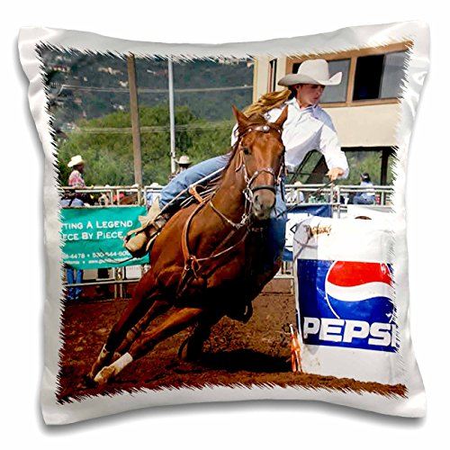 Horse - Barrel Racing - Pillow Case - 16x16 inch Pillow Case