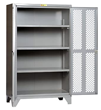 Little Giant SSLP3 A 3048 High Visibility Storage Cabinet With 3 Adjustable  Shelves,