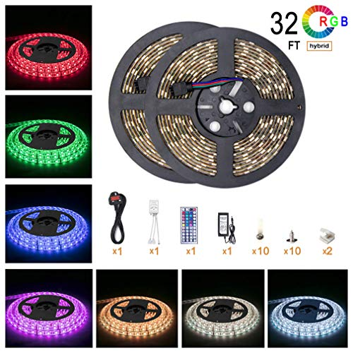 5050 Led Strip Lights 32 8 ft 10M 600 LEDs RGB Colour Changing Outdoor...