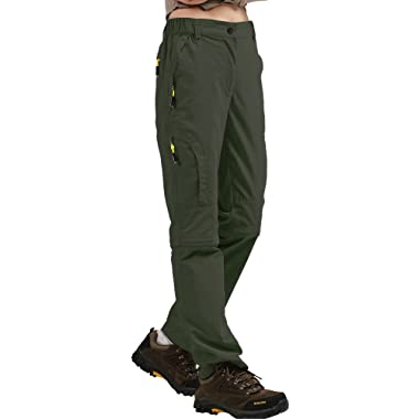 Women's Outdoor Quick Dry Convertible Pants Lightweight Hiking Fishing Zip Off Stretch Cargo Trousers #6601F