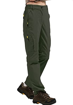 fd09f211 Women's Outdoor Quick Dry Convertible Pants Water-Resistant Hiking Fishing  Zip Off Cargo Pants Trousers