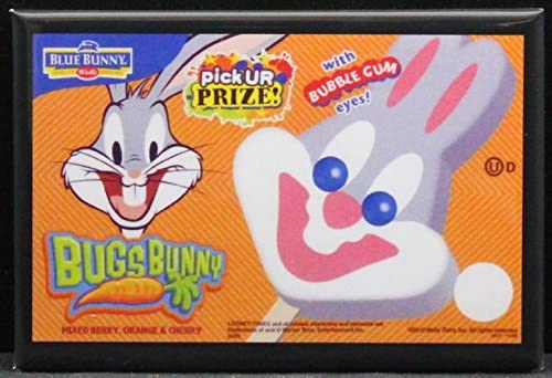 Amazon Com Bugs Bunny Ice Cream Bars Refrigerator Magnet Kitchen Dining