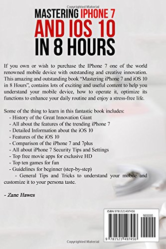 MASTERING-IPHONE-7-AND-IOS-10-IN-8-HOURS-TIPS-AND-TRICKS-FOR-By-Zane-Hawes-NEW miniatuur 2