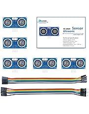 Elegoo HC-SR04 Ultrasonic Module Distance Sensor for Arduino UNO MEGA2560 Nano Robot XBee ZigBee, Set of 5