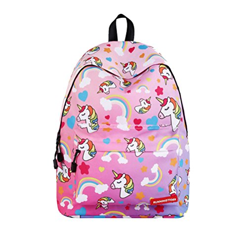 TTD Unicornio patrón serie niños niñas Escuela bolsa mochila ligero peso para senderismo viajes camping-Color 5 Color5