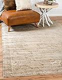 Cheap Unique Loom Paris Collection Pastel Tones Traditional Distressed Beige Area Rug (4′ x 6′)