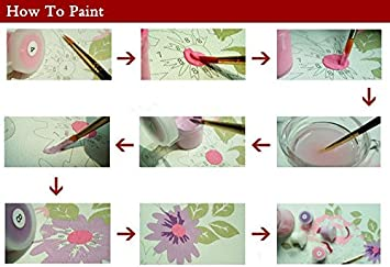 YXQSED Paint by Numbers Kit for Adults Kids Beginner DIY Oil Painting Paintworks on Canvas Without Frame Romantic Love Autumn 11 16x20 Inch