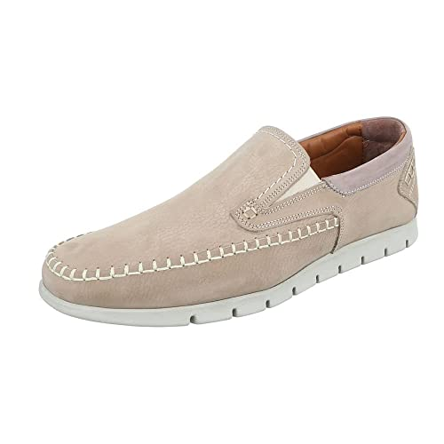 Slipper Leder Herren Schuhe Low Top Slipper Ital Design