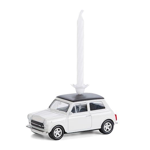 Vela en ruedas - Mini Cooper Classic, metal, blanco: Amazon ...